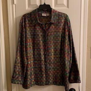 Beautiful Chico's size 3 silk/cotton jacket